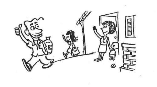 família - trabalho - escola - indo