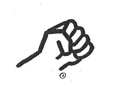 mão fechada