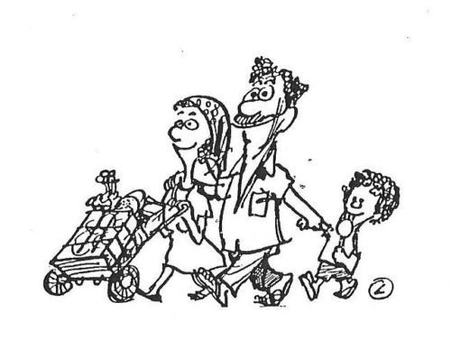 família -  compras - mercado