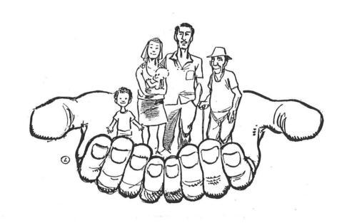 mãos - família