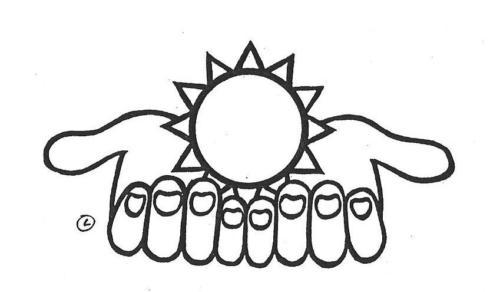 mãos - sol